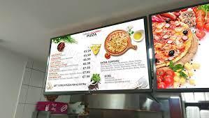 Five examples of digital menu boards
